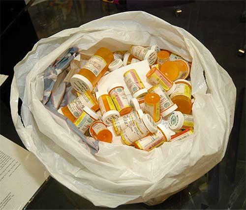This bag of psychotropic medications came to JRC with one student who was admitted. All of them were being taken daily!